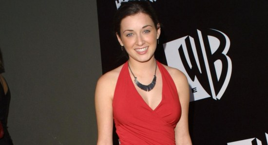 Margo Harshman looking great in red dress
