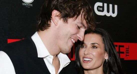 Demi Moore and ex husband Ashton Kutcher