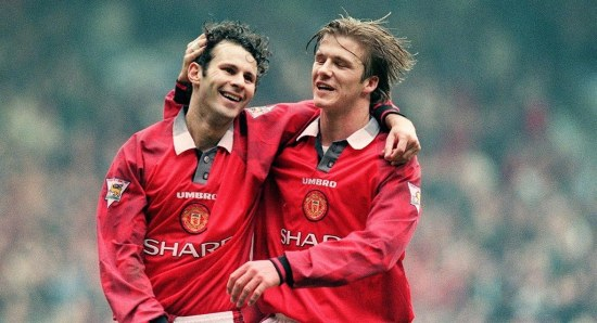 Ryan Giggs with David Beckham in the younger years