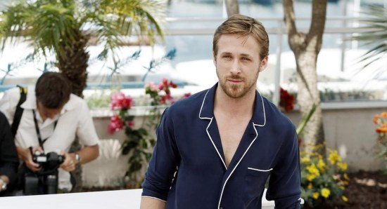 Ryan Gosling looking stylish and handsome