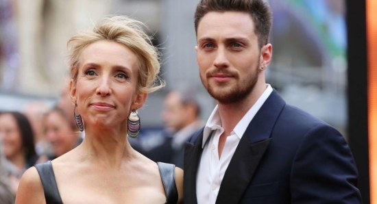 Sam Taylor-Johnson with husband Aaron Taylor-Johnson