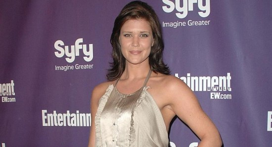 Sarah Lancaster looking gorgeous and relaxed