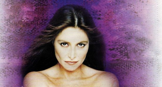 Daniela Romo in promotional photo, topless
