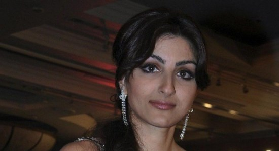 Soha Ali Khan modelling white dress