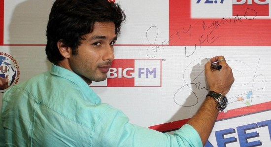 Shahid Kapoor is a top actor