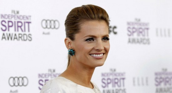 Stana Katic looking gorgeous in white dress