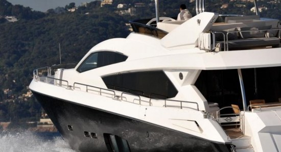 Sunseeker yacht on the water