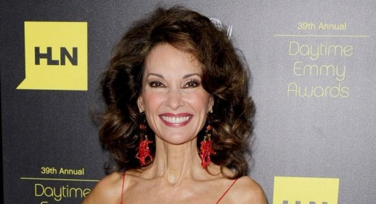 Susan Lucci looking spectacular in orange gown
