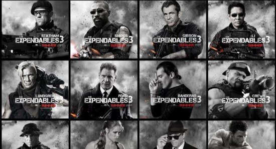 The Expendables 3 posters