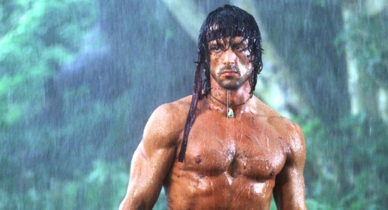 Sylvester Stallone looking buff as 'Rambo'