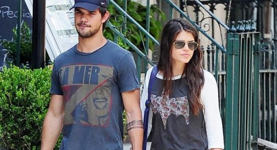 Taylor Lautner with Marie Avgeropoulos
