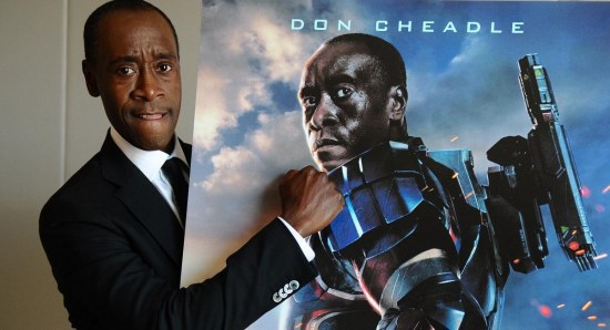 Don Cheadle replaced Terrence Howard