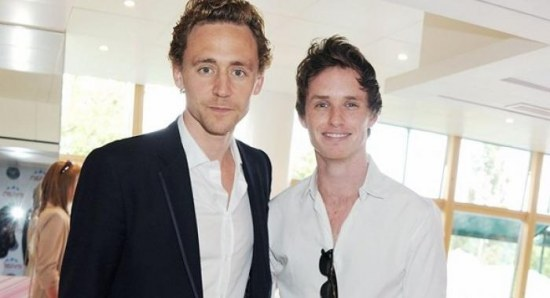 Eddie Redmayne with old friend Tom Hiddleston