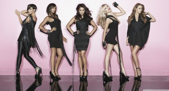 Mollie King with The Saturdays