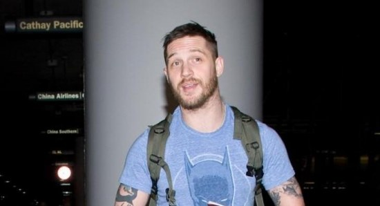 Tom Hardy at the airport