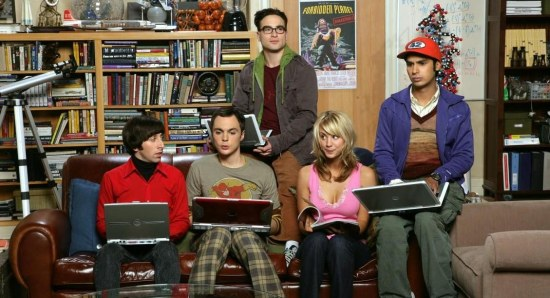 Kaley Cuoco with her The Big Bang Theory co-stars