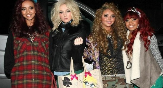 Perrie Edwards with her Little Mix girls