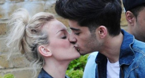 Zayn Malik and Perrie Edwards kissing