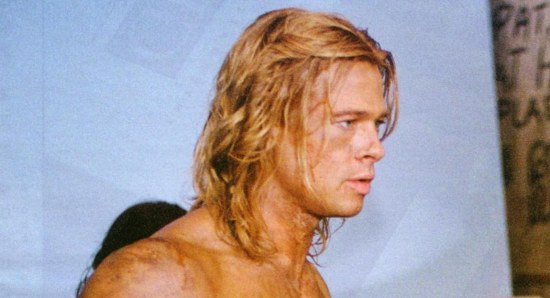 Brad Pitt shirtless and buff