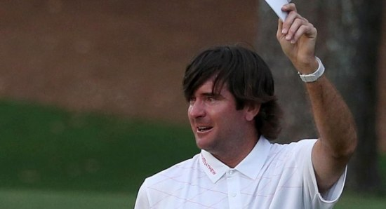 Bubba Watson salutes the crowd