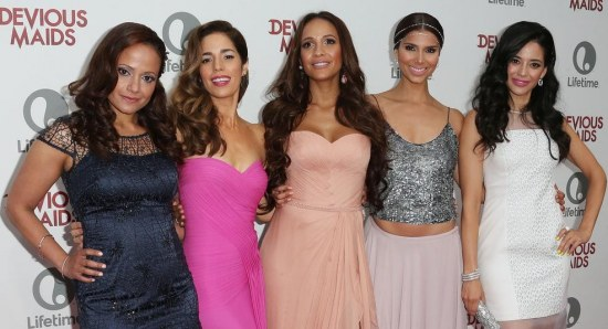 The female cast of the show gathers on the red carpet