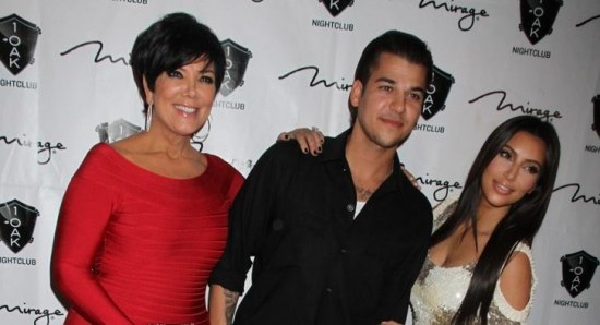 Kris Jenner with Rob and Kim