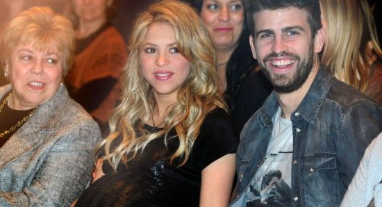 Shakira during her pregnancy