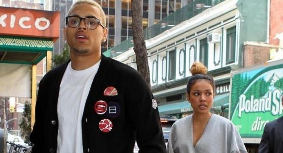 Chris Brown attends party with Karrueche Tran after ending relationship with Rihanna