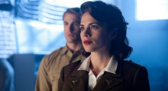 Chris Evans and Hayley Atwell spotted filming 'Captain America 2'
