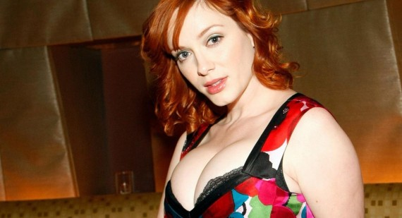 Christina Hendricks promotes Mad Men and signs with ICM