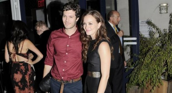Leighton Meester photographed hiding in Adam Brody's car