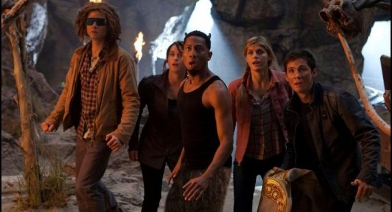Logan Lerman and Alexandra Daddario in 'Percy Jackson: Sea of Monsters' first look