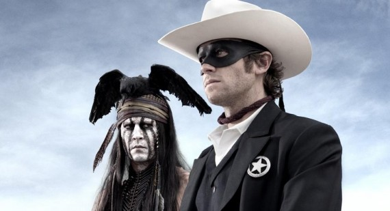 New The Lone Ranger poster of Johnny Depp and Armie Hammer
