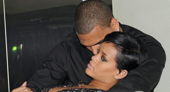 Rihanna shows off engagement ring as she cuddles with Chris Brown
