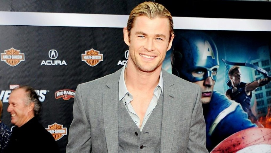 Chris Hemsworth puts muscles to work in filming new Avengers role