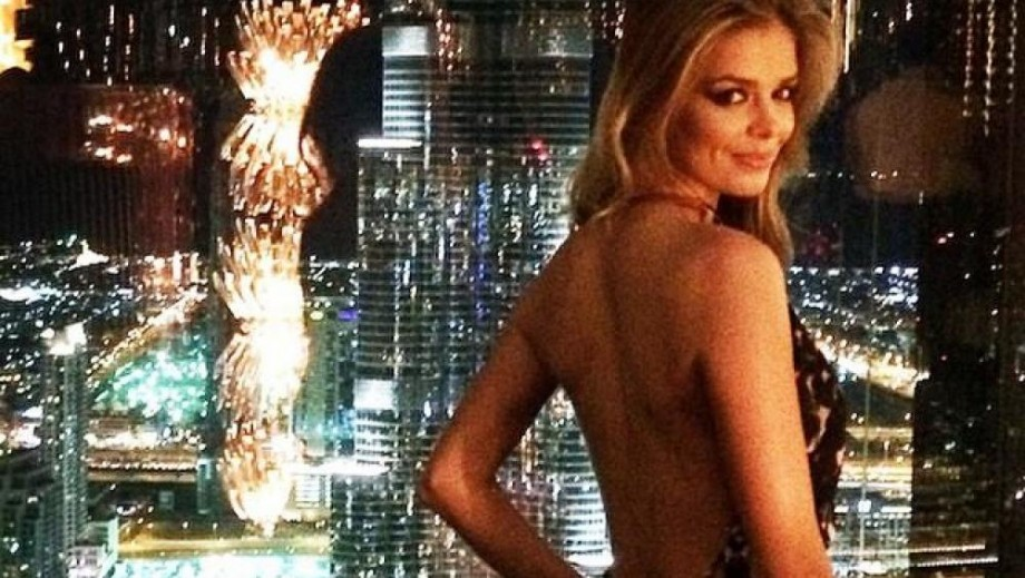 Danielle Knudson thanks Guess and Paul Marciano for Dubai trip