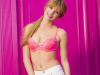 Bella Thorne a spring goddess for Cosmpolitan in red bandeau blouse