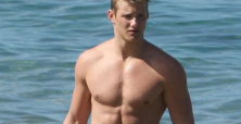 Alexander Ludwig stuns with appearance at amFAR Milano show