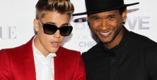 Usher admits to 'punching'  protege Bieber in chest when necessary