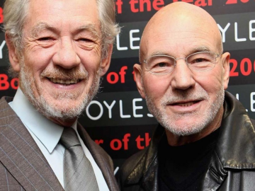 Ian McKellen's kiss with Patrick Stewart the highlight of Mr. Holmes premiere