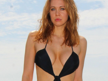 Maitland Ward stuns in 'sheer triangle' dress at L.A. fashion show