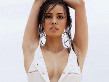 Megan Young stuns in blue dress as muse for PBA's 'Talk N' Text'