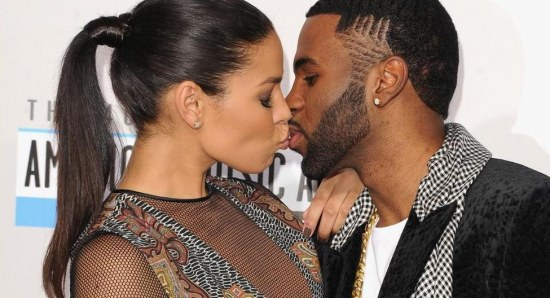 Jason Derulo and Jordin Sparks share a kiss