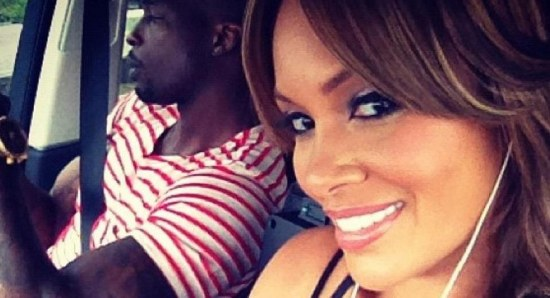 Evelyn Lozada with Antoine Walker in selfie