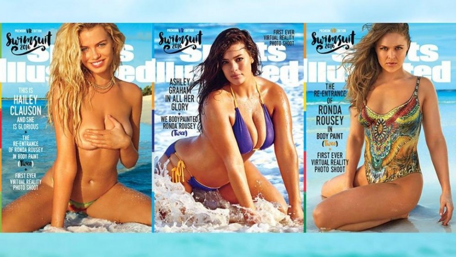 Ronda Rousey, Ashley Graham and Hailey Clauson named Sports Illustrated Swimsuit Issue 2016 cover stars