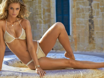 Kate Bock making the most of the beach